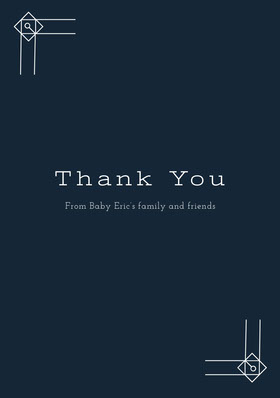 White and Black Thank You Card Carte de remerciement