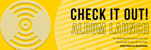 Yellow and Black Album Launch Banner Music Banner