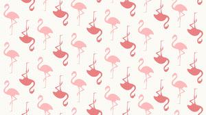 White and Pink Flamingo Pattern Desktop Wallpaper Desktop-Hintergrundbilder