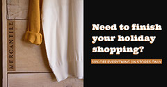Beige and Black Holiday Shopping Facebook Banner Ad Holiday Sale