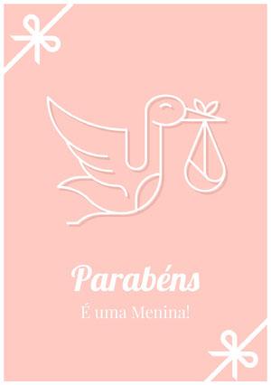 it's a girl congratulations cards Cartão de parabéns