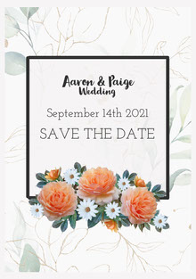 Aaron & Paige Save the Date Card 결혼 청첩장
