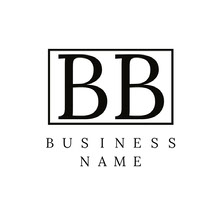 Black and White Rectangular Business Logo Logo