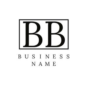 Black and White Rectangular Business Logo Name Logo