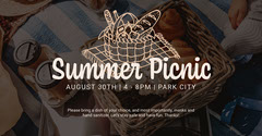 White Summer Picnic Facebook Event Picnic Flyer