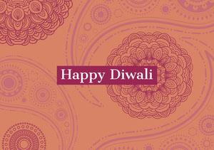 Orange and Claret Happy Diwali Card Diwali