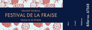 Festival de la fraise Billet de tombola