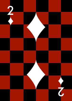 black and red checkerboard Playing Card Spillekort