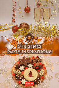 Christmas Party Inspirations Pinterest Graphic with Collage 節日卡片
