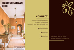Warm Earthy Tones Interior Design Brochure Interior Design