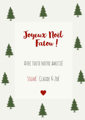 Green Christmas Trees Gift Label  Carte de Noël