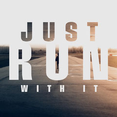 Brown and Gray Just Run With It Animated Quote Sports