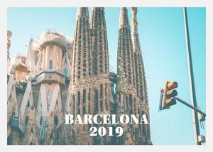 Barcelona Sagrada Familia Postcard Cartão-postal