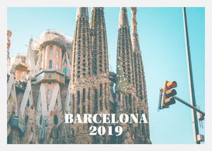 Barcelona Sagrada Familia Postcard Matkapostikortti