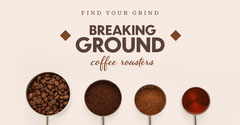 Pink and Brown, Light Toned Coffee Grinding Ad Facebook Banner Coffee