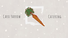 Grey With Carrot Graphic Catering Advertisement Catering