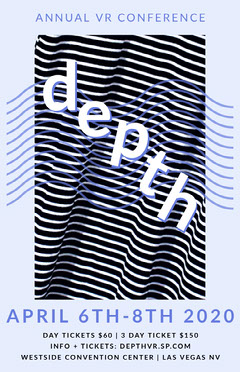 depth Vr stripes event poster Seminar Flyer