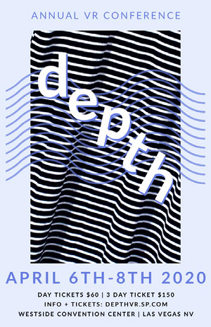 depth Vr stripes event poster Póster de evento