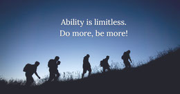 Ability is limitless. Do more, be more! LinkedIn-banneri