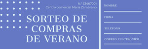 SORTEO DE COMPRAS DE VERANO  Entrada