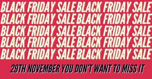 Pink and White Black Friday Sale Facebook Advertisement Facebook-Bildgröße