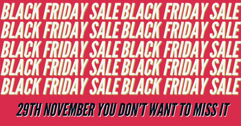 Pink and White Black Friday Sale Facebook Advertisement Tamaño de Imagen de Facebook