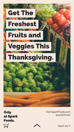 Get The Freshest Fruits and Veggies This Thanksgiving. Fruit