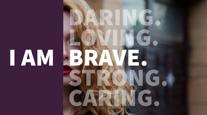 Purple and Cold Toned Inspiration Catchphrase Facebook Banner Banner Ideas