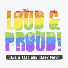 Colourful Pride LGBTQ+ Animated Instagram Square Pride