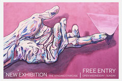 Pink Painted Art Image 3:2 Promo Postcard Art Exhibition