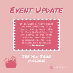 event update insta square Beauty