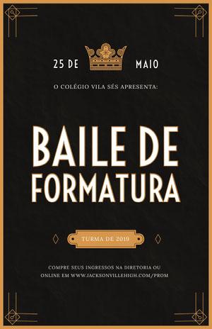 BAILE DE FORMATURA Folheto