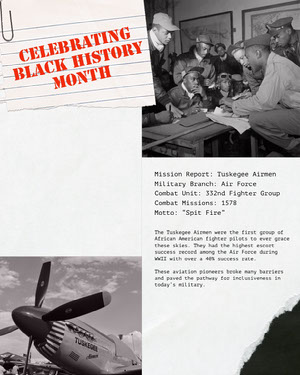 Black, White and Red Black History Month FLyer Black History Month Poster