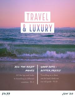 Travel Luxury Magazine Cover Sunset
