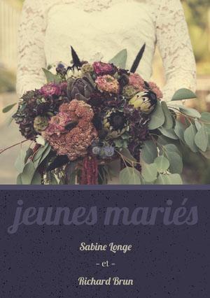 bouquet wedding announcements  Faire-part d'annonce de mariage