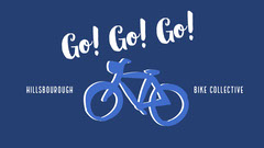 Blue and White Sentence Facebook Page Cover Bike