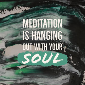 Green and White Inspirational Quote on Meditation Square Instagram Graphic Yoga Posters