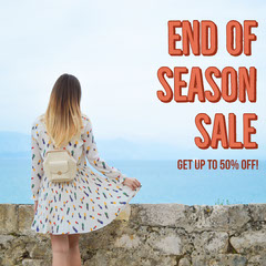 Pink End Of Season Sale Instagram Square Dress