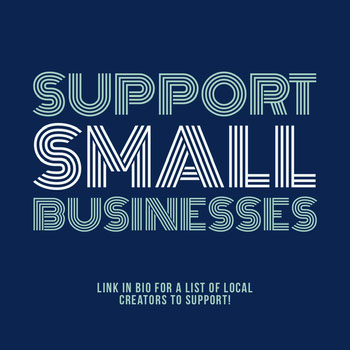 Blue Support Small Business Instagram Square COVID-19