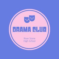 Pink and Purple Drama Club Instagram Square College