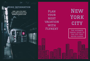 Claret and Black New York City Brochure Brochure