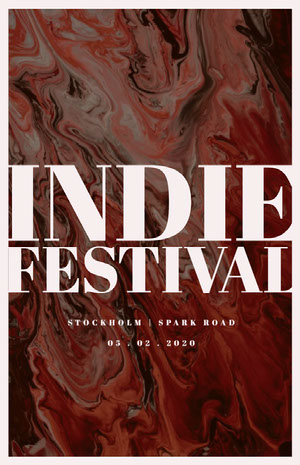 INDIE<BR>FESTIVAL 콘서트 포스터