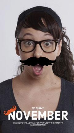 Funny, Light Toned No Shave November Event Ad Snapchat Story Jokes