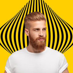 Bold Modern Profile Picture Yellow