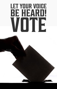 Let your voice be heard Voting Flyer Voting