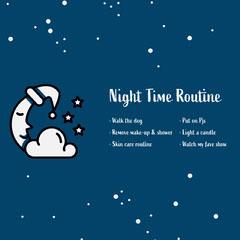 night time routine instagram  Moon