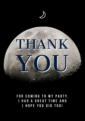 Moon Halloween Costume Party Thank You Card Thank You Card
