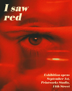 Red Eye Photo Art Exhibition Poster  Art Exhibition