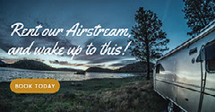 Blue Toned Rent Airstream Facebook Banner Ad  Lake