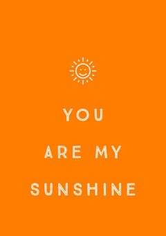 Orange and White Support Card Sun
